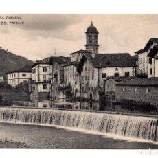 Postales: ELIZONDO (NAVARRA).- PAISAJE . EDICION DE EUSEBIO RUBIO CIRCULAR. Lote 120910487