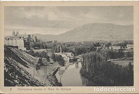 X118185 NAVARRA PAMPLONA DESDE LA RIPA DE BELOSO (Postales - España - Navarra Antigua (hasta 1.939))