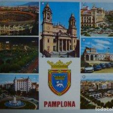 Postales: POSTAL. NAVARRA. PAMPLONA. PLAZA TOROS Y VISTA PARCIAL. ED. MANIPEL.. Lote 121582635
