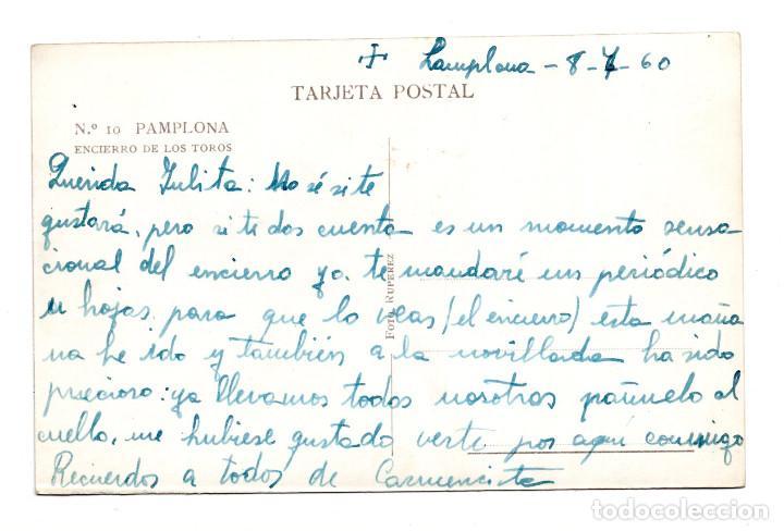 Postales: PAMPLONA.- ENCIERRO DE TOROS. FOTO RUPEREZ - Foto 2 - 121804667