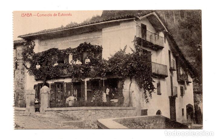 ISABA (NAVARRA).- COMERCIO DE ESTORNÉS (Postales - España - Navarra Antigua (hasta 1.939))