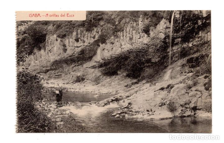 ISABA (NAVARRA).- A ORILLAS DEL ESCA (ED.ESTORNÉS) (Postales - España - Navarra Antigua (hasta 1.939))