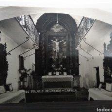 Postales: TARJETA POSTAL DE 2/3/57 PALACIO DE URBASA CAPILLA. Lote 126356803