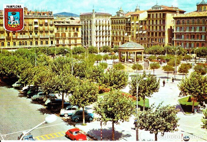 PAMPLONA -PLAZA DEL CASTILLO- (FOTOCOLOR DARVI Nº 2) SIN CIRCULAR / P-3994 (Postales - España - Navarra Moderna (desde 1.940))