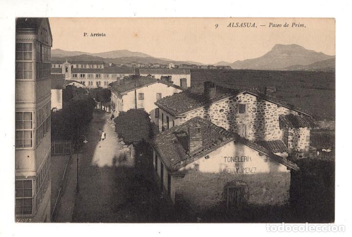 ALSASUA.- PASEO DE PRIM.- P. ARRIETA (Postales - España - Navarra Antigua (hasta 1.939))