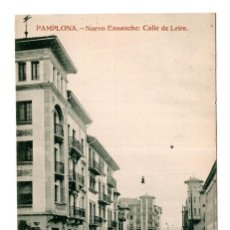 Postales: PAMPLONA (NAVARRA).- NUEVO ENSANCHE. CALLE DE LEIRE. Lote 128041367