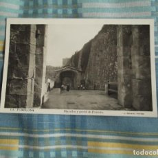 Postales: PAMPLONA MURALLA Y PORTAL FRANCIA FECHADA 1924. Lote 128041631