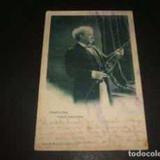 Postales: PAMPLONA PABLO SARASATE. Lote 128484219