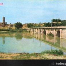 Postales: PUENTE ROMÁNICO SOBRE EL RÍO EBRO. TUDELA. NAVARRA.. Lote 128535695