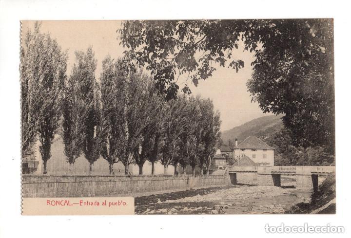 RONCAL (NAVARRA).- ENTRADA AL PUEBLO (Postales - España - Navarra Antigua (hasta 1.939))