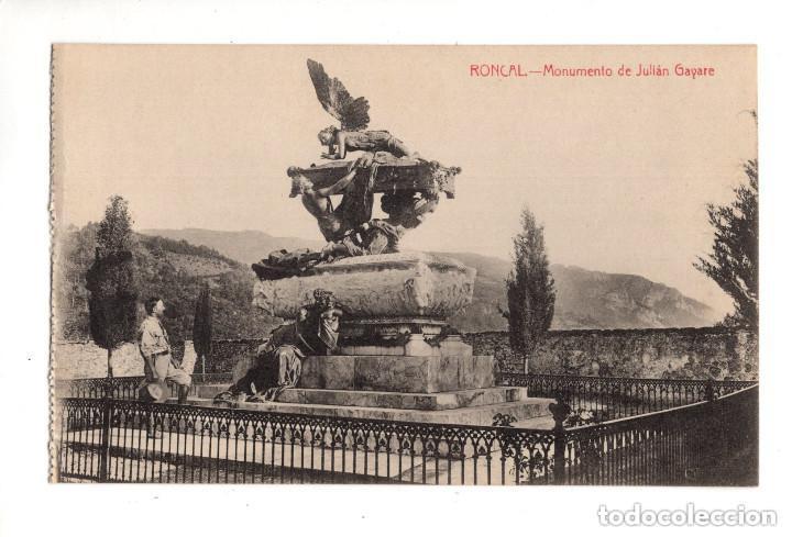RONCAL (NAVARRA).- MONUMENTO DE JULIAN GAYARE (Postales - España - Navarra Antigua (hasta 1.939))