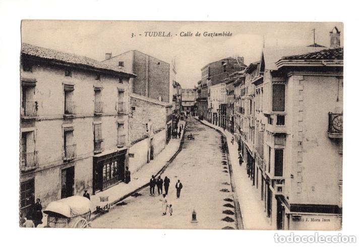 TUDELA.- CALLE DE GAZTAMBIDE. (Postales - España - Navarra Antigua (hasta 1.939))