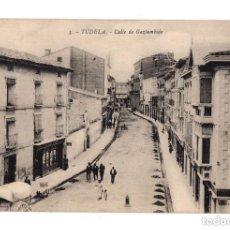 Postales: TUDELA.- CALLE DE GAZTAMBIDE.. Lote 132038930