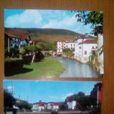 Postales: 2 POSTAL AÑOS 70- ELIZONDO, NAVARRA- RIO BAZTÁN. Lote 133472315