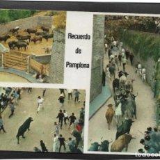 Postales: PAMPLONA Nº 71 ENCIERRO DE LOS TOROS .- EDICIONES COMPLEX 1968. Lote 133679894