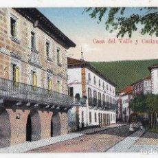 Postales: ELIZONDO. CASA DEL VALLE Y CASINO.. Lote 133712234