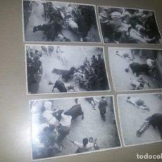 Postales: TOROS - PAMPLONA ,ENCIERROS - FOTÓGRAFO RAFAEL BOZANO - PAMPLONA -14X9 CM. AÑOS 50/60. Lote 134718602