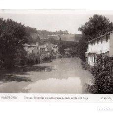 Postales: PAMPLONA.( NAVARRA).- TIPICAS TENERIAS DE LA ROCHAPEA, EN LA ORILLA DEL ARGA. Lote 135591498