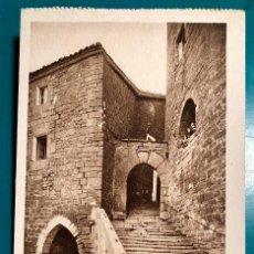 Postales: POSTAL DE AIBAR SUBIDA A LA IGLESIA, L. ROISIN. Lote 139227026