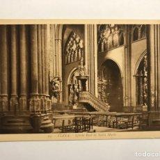 Postales: VIANA (NAVARRA) POSTAL NO.94, IGLESIA REAL DE SANTA MARÍA. EDITA: FOTO L. ROISIN (H.1930?). Lote 141449082