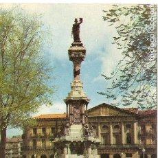 Postales: POSTAL, PAMPLONA, MONUMENTO A LOS FUEROS, ED. VAQUERO, SIN CIRCULAR. Lote 141479702