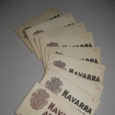 Postales: NUEVE BLOCS DE POSTALES NAVARRA ARTISTICA COLECCION ROLDAN /ROISIN Nº 1/2/3/4/5/6/7/9/10. Lote 142971634