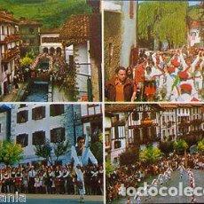 Postales: POSTAL LESAKA DANZAS VASCAS SAN FERMIN NAVARRA DANCES POSTCARD POSTKARTE CC03064. Lote 143974645