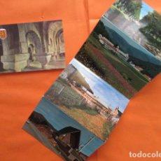 Postales: NAVARRA - RONCESVALLES Y MONASTERIO LEYRE - 5 POSTALES - SIN CIRCULAR 4 EN BLOC . Lote 144098542
