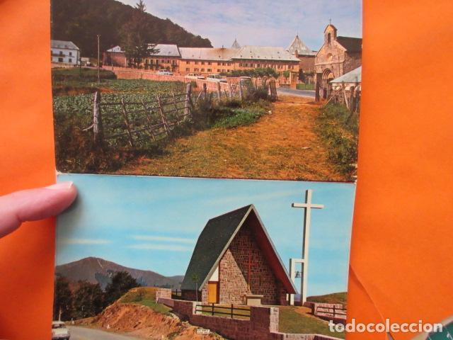 Postales: NAVARRA - RONCESVALLES Y MONASTERIO LEYRE - 5 POSTALES - SIN CIRCULAR 4 EN BLOC - Foto 2 - 144098542