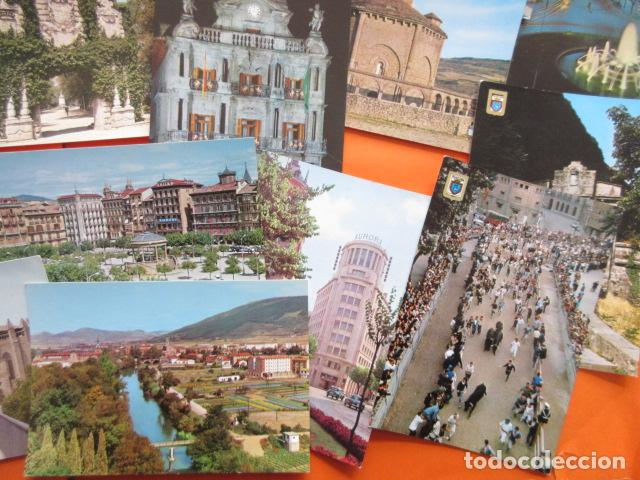 Postales: PAMPLONA - 21 POSTALES - 7 CIRCULAS CON SELLO Y MATASELLOS AÑOS 60/70 - Foto 3 - 144102374