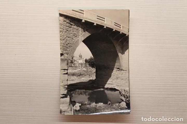POSTAL CINTRUENIGO, PUENTE SOBRE EL RÍO ALHAMA, ED. MONTAÑÉS (Postales - España - Navarra Moderna (desde 1.940))