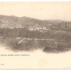 Postales: ESTELLA (NAVARRA) VISTA TOMADA DESDE SANTA BÁRBARA. (RARA).. Lote 147424102