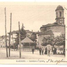 Postales: ELIZONDO (NAVARRA) CARRETERA E IGLESIA.. Lote 147437238