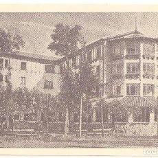 Postales: LECUMBERRI (NAVARRA) HOTEL AYESTARAN. (PUBLICIDAD PRECIOS EN EL DORSO).. Lote 147439198