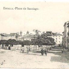 Postales: ESTELLA (NAVARRA) PLAZA DE SANTIAGO.. Lote 147441594