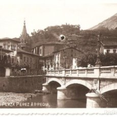Postales: AZPEITIA (NAVARRA) PLAZA PÉREZ ARREGUI (RARA).. Lote 147441982