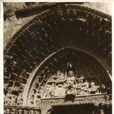 Postales: OLITE-IGLESIA DE SANTA MARÍA LA REAL-PUERTA ENTRADA-FOTOGRÁFICA- 1930- MUY RARA ÚNICA. Lote 148026014