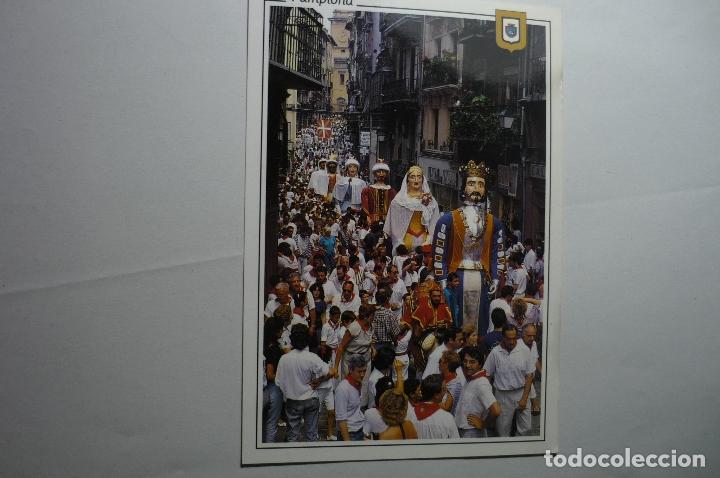 POSTAL PAMPLONA - GIGANTES ESCRITA (Postales - España - Navarra Moderna (desde 1.940))