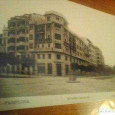 Postales: POSTAL PAMPLONA ROISIN 1935 AVENIDA CARLOS III. Lote 148923350