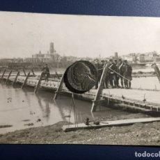 Postales: FOTO POSTAL MILITAR 1911 NAVARRA TUDELA PONTONEROS. Lote 149124798
