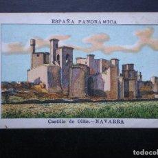 Postales: NAVARRA CASTILLO DE OLITE RARO CROMO PUBLICIDAD CHOCOLATES TRAPA PALENCIA VENTA. Lote 149831044
