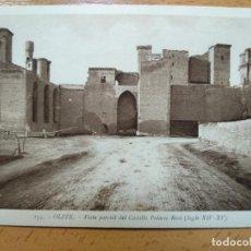 Postais: OLITE - VISTA PARCIAL DEL CASTILLO, PALACIO REAL, L. ROISIN. Lote 150241362