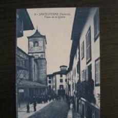 Cartes Postales: SANTESTEBAN-DONEZTEBE-PLAZA DE LA IGLESIA-9-THOMAS-POSTAL ANTIGUA-(56.968). Lote 150835062