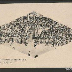 Postales: PAMPLONA-IRUÑA-ENCIERRO DE LOS TOROS POR SAN FERMIN-VDA RUBIO-HAUSER Y MENET-POSTAL ANTIGUA-(57.064). Lote 151280574