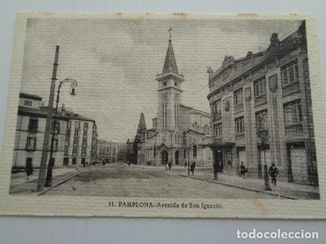 PAMPLONA. AVENIDA DE SAN IGNACIO. TARJETA POSTAL SIN USO. (Postales - España - Navarra Antigua (hasta 1.939))