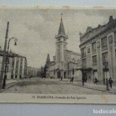 Postales: PAMPLONA. AVENIDA DE SAN IGNACIO. TARJETA POSTAL SIN USO.. Lote 151400390