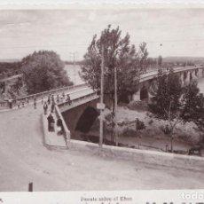 Postales: TUDELA (NAVARRA) - PUENTE SOBRE EL EBRO. Lote 151540390