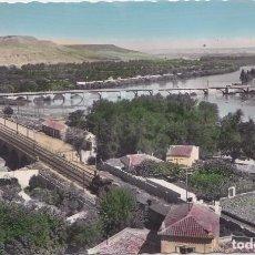 Postales: TUDELA (NAVARRA) - EL EBRO Y LA MEJANA. Lote 151541034