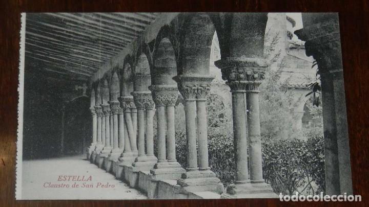 ESTELLA (NAVARRA) CLAUSTRO DE SAN PEDRO, L. PEREZ EDITOR, SIN CIRCULAR (Postales - España - Navarra Moderna (desde 1.940))