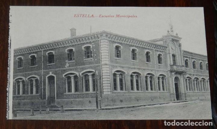 ESTELLA (NAVARRA) ESCUELAS MUNICIPALES, L. PEREZ EDITOR, SIN CIRCULAR (Postales - España - Navarra Moderna (desde 1.940))